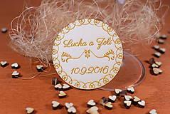 Darčeky pre svadobčanov - Drevená svadobná magnetka Ľudový motív 16 - 11250737_