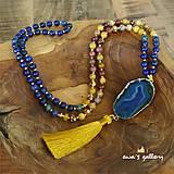 Náhrdelníky - Náhrdelník MALA drúza – Lapis Lazuli & CHRYZOKOL & ACHÁT & JASPIS MOOKAIT - 11252933_