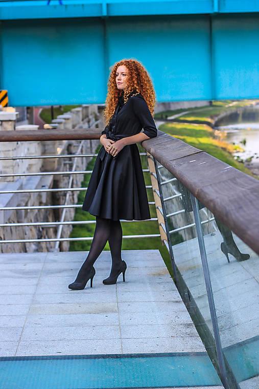 Šaty - Košilové šaty SARA, černé - 11255071_