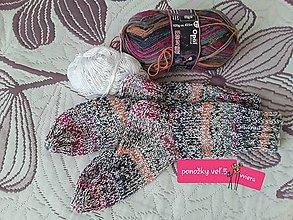 Obuv - pletené ponožky - 11256692_