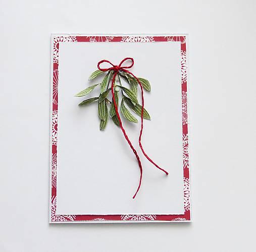 Vianočná pohľadnica, imelo