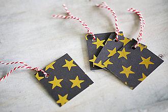 Papiernictvo - Menovky na darčeky - vianočné - 11256489_