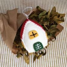 Dekorácie - Vianočná ozdoba domček - 11255672_