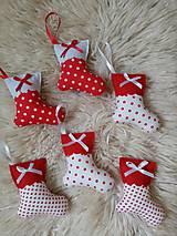 Dekorácie - Vianočné ozdoby čižmičky - 11256119_