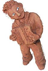 Dekorácie - Harmonikár, heligonkár -- keramika - 11257147_