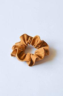 Ozdoby do vlasov - Scrunchie gumička škoricová - 11255354_