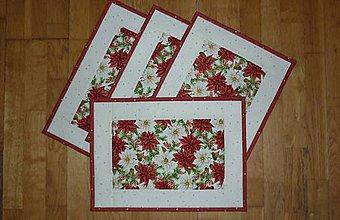 Úžitkový textil - Prestieranie s vianočnou ružou - 11257682_