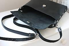 Kabelky - Kožená kabelka (ručne maľovaná Listy) - 11255260_