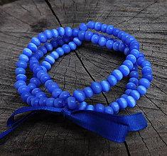 Náramky - elastický náramok mačacie očká / darček k nákupu - 11255014_