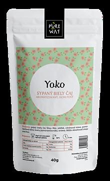 Potraviny - YOKO sypaný biely čaj aromatizovaný, ochutený, 40 g - 11254827_