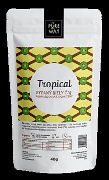 Potraviny - TROPICAL sypaný biely čaj aromatizovaný, ochutený, 40 g - 11254839_