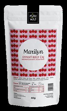 Potraviny - MARILYN sypaný biely čaj aromatizovaný, ochutený, 40 g - 11254850_
