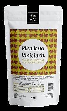 Potraviny - PIKNIK VO VINICIACH sypaný biely čaj aromatizovaný, ochutený, 40 g - 11254881_