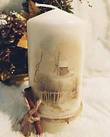 Svietidlá a sviečky - Sada vianočných sviečok - Zimná krajina - 11257173_