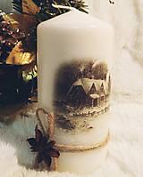 Svietidlá a sviečky - Sada vianočných sviečok - Zimná krajina - 11257187_