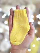 Topánočky - SUNNY DAY - Pletené vlnené merino ponožky  - 11255928_