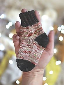 Topánočky - OWL - Pletené vlnené ponožky - 11255961_
