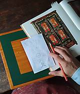 Nábytok - Ručne maľovaná truhlica z Litomyšlska - 11254462_