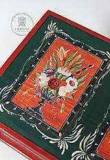 Nábytok - Ručne maľovaná truhlica z Litomyšlska - 11254463_