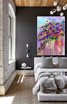 Obrazy - Kvety v daždi - 11255242_