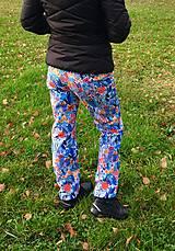 Nohavice - zateplené športové softshell nohavice Pestrofarebná lúka - 11258043_