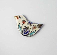 Odznaky/Brošne - Tana šperky - keramika/zlato - 11255225_