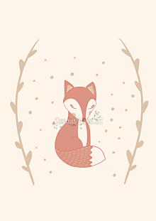"""Grafika - Ilustrácia zo zvieratkovej kolekcie """"Pani Líška"""" - 11258541_"""