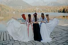 Šaty - krátke vyšívané šaty Slavianka - 11254865_