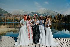 Šaty - krátke vyšívané šaty Slavianka - 11254866_