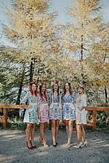 Šaty - krátke vyšívané šaty Slavianka - 11254874_