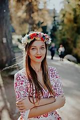 Šaty - krátke vyšívané šaty Slavianka - 11254876_