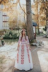 Šaty - krátke vyšívané šaty Slavianka - 11254878_