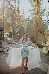 Šaty - krátke vyšívané šaty Slavianka - 11254888_