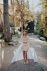 Šaty - krátke vyšívané šaty Slavianka - 11254889_