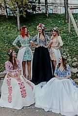 Šaty - krátke vyšívané šaty Slavianka - 11254890_