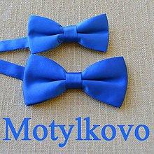 Doplnky - Motýlik, motýliky pre otca a syna, otec a syn (Modrá) - 11257041_