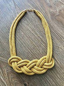 Náhrdelníky - Nekonečný náhrdelník  (Žltá) - 11256137_