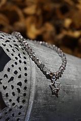 Náramky - Náramok sklenený s hviezdičkou - 11257774_