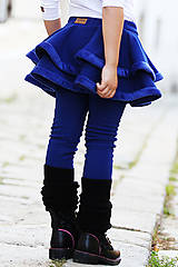 Iné oblečenie - zateplené točivé sukňolegíny QUEEN BLUE - 11258427_