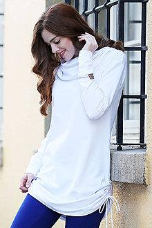 Tričká - dámske minišatové tričko LILI WHITE - 11258397_