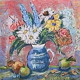 Obrazy - květina s jablky - 11254929_