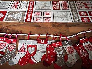 Úžitkový textil - Adventny kalendár fusaklinky Scandi - 11256463_