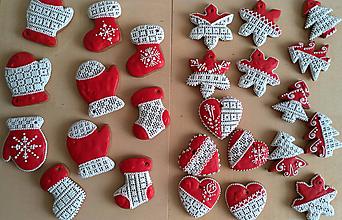 Dekorácie - Vianočný mix červený - 11255320_