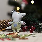 """Dekorácie - Vianočná dekorácia """"Vlk"""" - 11257432_"""