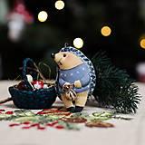 """Dekorácie - Vianočná dekorácia """"Ježko"""" - 11257471_"""