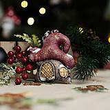 """Dekorácie - Vianočná dekorácia """"Zlatý domček"""" - 11257547_"""