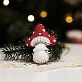 """Dekorácie - Vianočná dekorácia """"Muchotrávka"""" - 11257557_"""