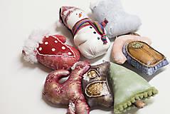 Dekorácie - Sada 6 vianočných dekorácií - 11257633_