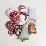 Dekorácie - Sada 6 vianočných dekorácií - 11257634_