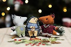 Dekorácie - Sada 6 vianočných dekorácií - 11257654_